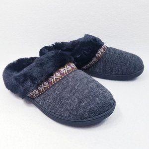 Classic Isotoner Memory Foam Faux Fur Slippers-NIB